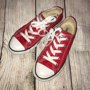 Kids red converse sneakers